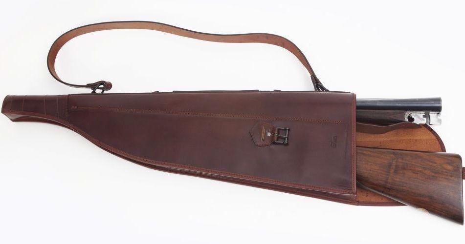 Fundas de escopeta partida paralela en piel c digo 13518 guarnicioneria lopez zapater a a - Funda escopeta ...