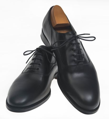 Zapato caballero OXFORD SIMPLE, Código: 7534, color negro box-calf, Guarnicionería Lopez. Sevilla.